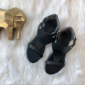 Pierre Dumas Adele Gladiator Sandals in Black 8.5